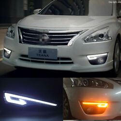 Exact Fit Nissan Altima Switchback LED Daytime Running Lights Turn Signal Lamps