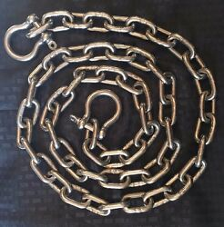 Stainless Steel 316 Anchor Chain 8mm Or 5/16 By 35and039 Long With Quality Shackles