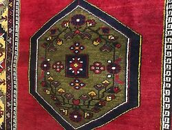 Semi-antique 1960-1970and039s Natural Dye Wool Pile Tribal Area Rug 3and0399 X 7and0394
