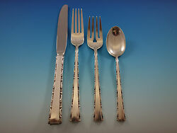 Madrigal By Lunt Sterling Silver Flatware Set For 8 Service 37 Pieces