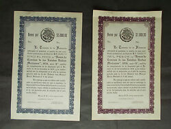 Mexico 31x Short Term Treasury Bills Specimen Collection - 1936