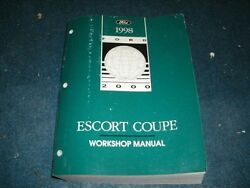 1998 FORD ESCORT COUPE FACTORY FORD SHOP SERVICE MANUAL NICE COMPLETE