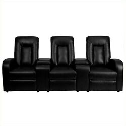 Flash Furniture 3 Seat Home Theater Recliner In Black