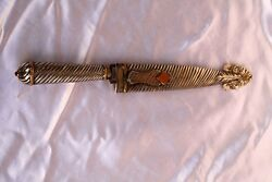 Magnificent 19c German Gold 800 Silver Very Sharp Knife With Cover Signed