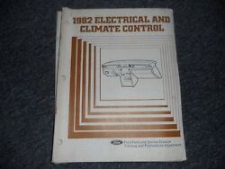 1982 FORD THUNDERBIRD LTD FAIRMONT ELECTRICAL AND CLIMATE CONTROL SHOP MANUAL