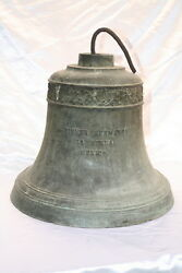1900 BRONZE BELL GIFT OF MEXICAN PRESIDENT TO HAROLD LLOYD ESTATE IN BEV.HILLS