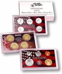 2007-s 90 Silver Proof Set United States Mint Original Government Packaging Box
