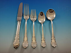Modern Victorian By Lunt Sterling Silver Flatware Set For 6 Service 30 Pieces