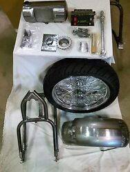 91-up Xl Sportster 5 Stretch 3 Drop Seat 200 Wide Tire Hardtail Conversion Kit