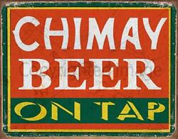 Chimay Lager Beer On Tap Pub Bar Metal Tin Sign Poster Wall Plaque