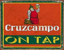 Cruzcampo Lager Beer On Tap Pub Bar Metal Tin Sign Poster Wall Plaque
