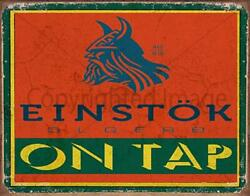Einstok Lager Beer On Tap Pub Bar Metal Tin Sign Poster Wall Plaque