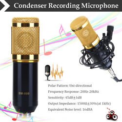 Pro Audio Broadcasting Recording Condenser Microphone Mic WShock Mount US STOCK