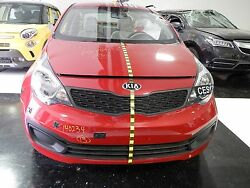 2013 Kia Rio Sedan Lx Red Front End Assembly Clip Nose And039000184and039 Miles