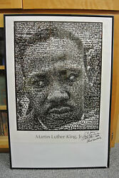 Signed Ernest Withers Martin Luther King Jr. Photo Mosaic Gabe Greenberg