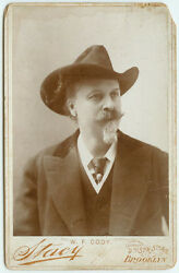 Vintage Wild West Pony Express And More Buffalo Bill Cody Cabinet Card By Stacy