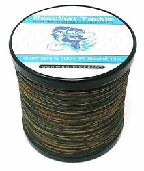 Reaction Tackle High Performance GREEN Camouflage Braided Fishing Line $13.99
