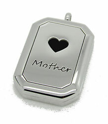 Stainless Steel Mother Heart Aromatherapy Diffuser Locket Pendant Necklace Pads