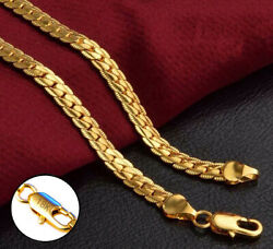 18k Yellow Gold Women#x27;s 5mm Wide Link Chain 20quot; Necklace w Gift Pkg D517G $19.95