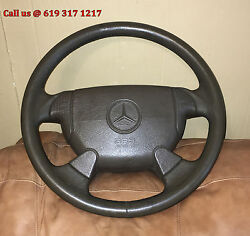 96 97 98 Mercedes R129 SL500 SL320 SL600 BROWN Leather Steering Wheel Assembly