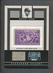 2005 Donruss Signature Series Stamps Sst-1 Babe Ruth Game Worn Pants Card 22/40