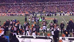 2 Front Row Tickets Bengals Vs Pittsburgh Steelers 12/4 - Section 109 - Row 1