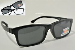 Nearsighted Distance Glasses With Magnetic Polarized Clip-ons Power -0.5 To -6.0