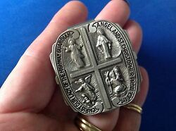 Rare Protection Visor Clip St. Christopher Guardian Angel Jesus Our Lady Highway
