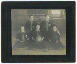Extremely Rare Vintage Female Sports Womenand039s Basketball Team Cabinet Card