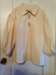 BOY#x27;S HANDMADE PEASANT PIRATE SHIRT RENAISSANCE SCA PIRATE SIZE 14 16