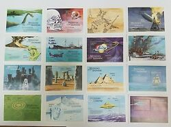 6 Sets Of 16 Maldives Mysteries Of The Universe Mint Stamp Souvenir Sheets 1992