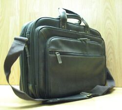 Heritage Leather Briefcase / Computer Bag - Nice Soft Brown Leather