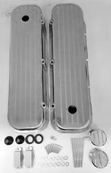 Big Block Chevy Tall Valve Cover Kit Ball Milled 396 454 502 Breather Pcv Combo