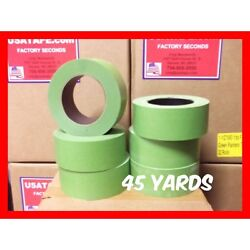 Lot Of 24 Rolls 2 X 45 Yards Green Painters Masking Tape Quick Ship. Usa Made