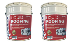 Rubber Rv Roof Leak Sealant And Coating Camper Trailer 8 Gallon 15 Year Guarantee