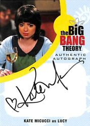 Big Bang Theory Seasons 6 And 7 Autograph Card Km1 Kate Miccuci As Lucy