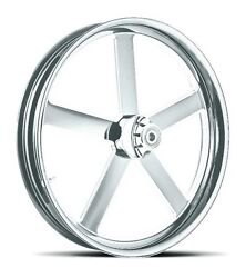 Dna Victory Chrome Forged Billet 21 X 3.25 Front Wheel Harley Softail