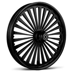 Dna Ss2 Gloss Black Forged Billet Wheel 18 X 10.5 Rear Harley 280-300 Tire