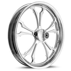 Dna C-2 Chrome Forged Billet 21 X 2.15 Front Wheel Harley Softail Dyna