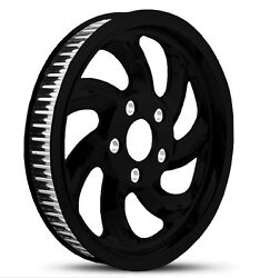 Dna Storm Gloss Black Rear Pulley 70t 1-1/8 Harley Touring Softail Dyna