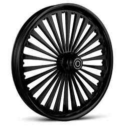 Dna Ss2 Gloss Black Forged Billet 23 X 3.75 Front Wheel Harley Softail