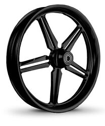 Dna Icon Gloss Black Forged Billet 23 X 3.75 Front Wheel Harley Softail