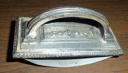 Collectible Metal Engraved Antique Rocking Ink Blotter And Blotting Paper