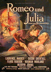 R.castellani's Romeo And Juliet Rare 1sh From 1954
