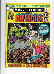 Marvel Feature 2 Presents The Defenders March 1972 2nd Appearance The Defenders