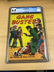 Extremely Rare Gang Busters 7 Goldenage Cgc 6.0