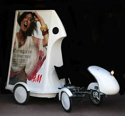 Adbike Is A Pedal Driven Poster Bike Own Your Own Advertising/promo Business