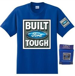 Ford Build Tough Tee with Cooler Koozie Can Set Blue