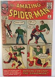 The Amazing Spider-Man  COMIC ISSUE #4 (Sep 1963, 1ST SERIES Marvel) ft. Sandman
