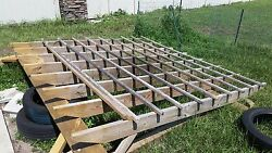 Pergola 1 Year Old, 10×10, Treated Wood. Pick Up Only. Cash Only As Well.